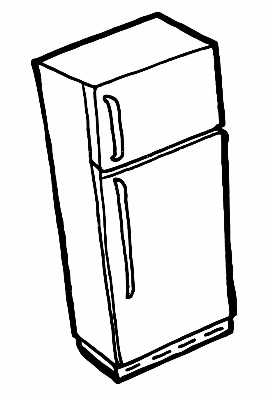 User taking picture of refrigerator clipart png black and white Refrigerator Fridge Freezer Cold Png Image - Refrigerator ... black and white