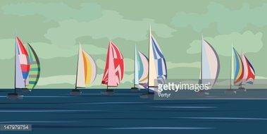 Vector Illustration of Sailing Yacht stock vectors - Clipart.me clip transparent stock