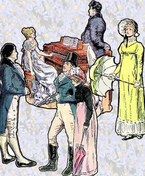 Found Treasures- Pride and Prejudice - Regency Restored Public Domain  Clip-Art royalty free