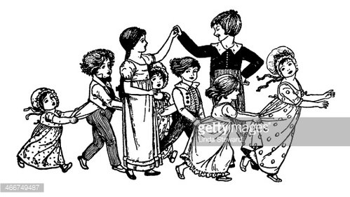 Regency Era Children Playing OR Dancing premium clipart ... image library