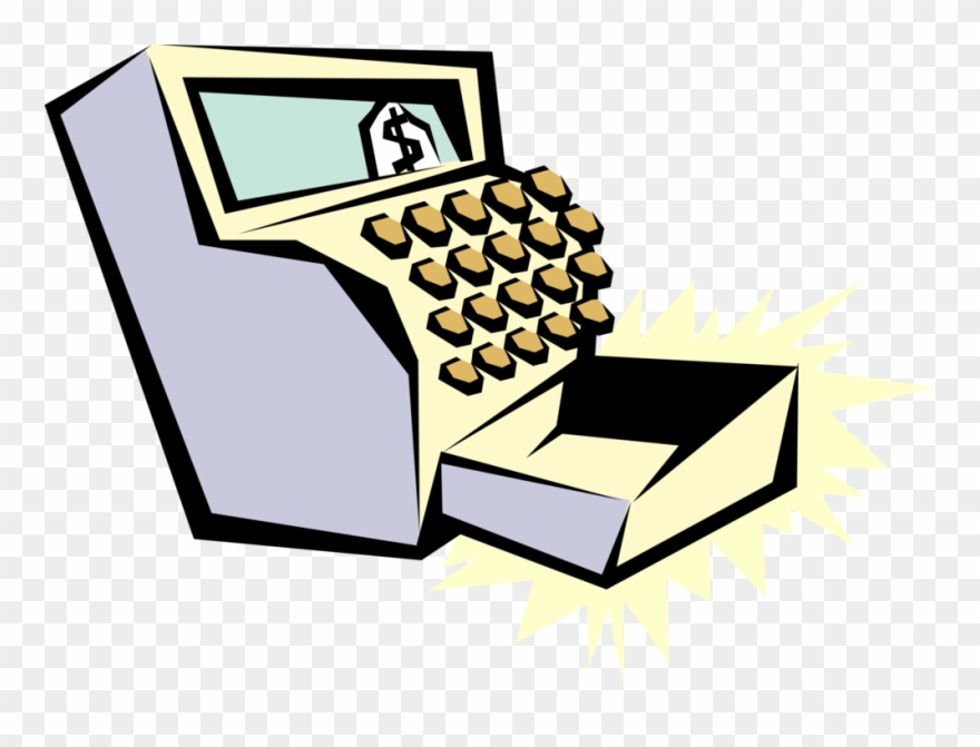 Vector Illustration Of Cash Register For Registering Clipart ... svg royalty free download