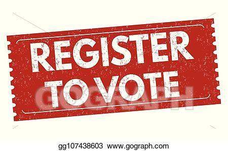 Register to vote clipart clip art transparent library Vector Clipart - Register to vote sign or stamp. Vector ... clip art transparent library