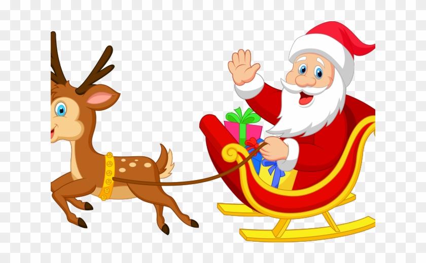 Reindeer and santa clipart banner transparent stock Santa Clipart Reindeer - Santa And Reindeer Transparent, HD ... banner transparent stock