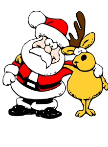 Reindeer and santa clipart clip royalty free stock 1022 free christmas clip art santa reindeer | Public domain ... clip royalty free stock