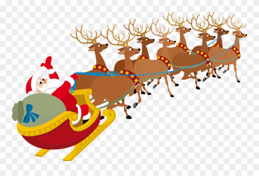 Reindeer and santa clipart picture Picture Transparent Santa Claus Clauss Reindeer - Santa ... picture
