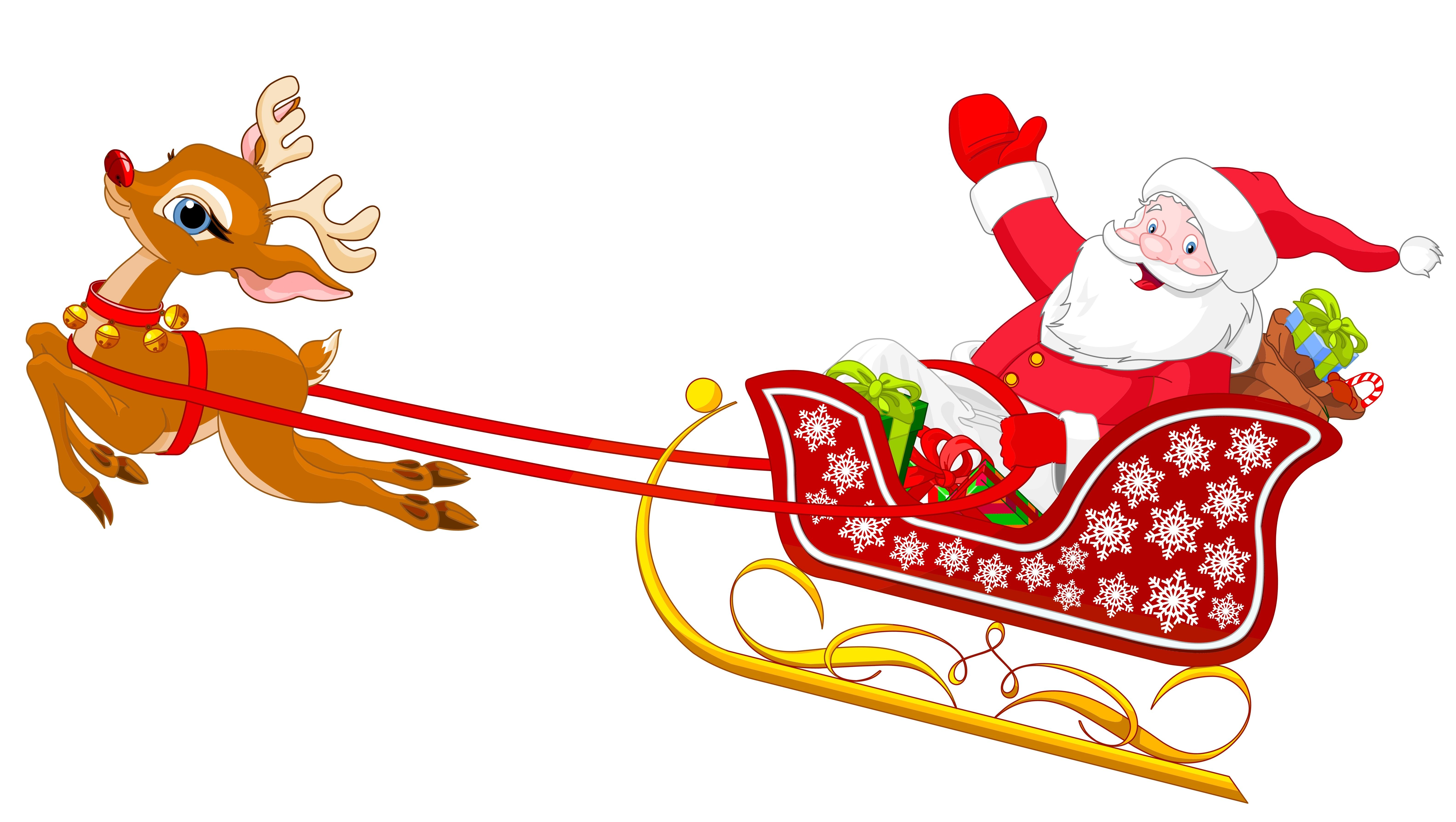 Reindeer and santa clipart jpg freeuse download A little Christmas song | My pins | Santa sleigh, Santa ... jpg freeuse download