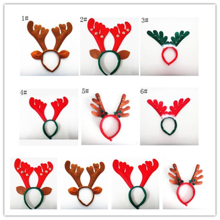 christmas Reindeer antler Hairband Bell Deer Horn headbands Ear head Hoops  Halloween Party festival Decorations women kids children wear hot vector royalty free