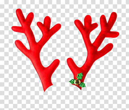 CHRISTMAS, red reindeer antlers illustration transparent ... clipart free library