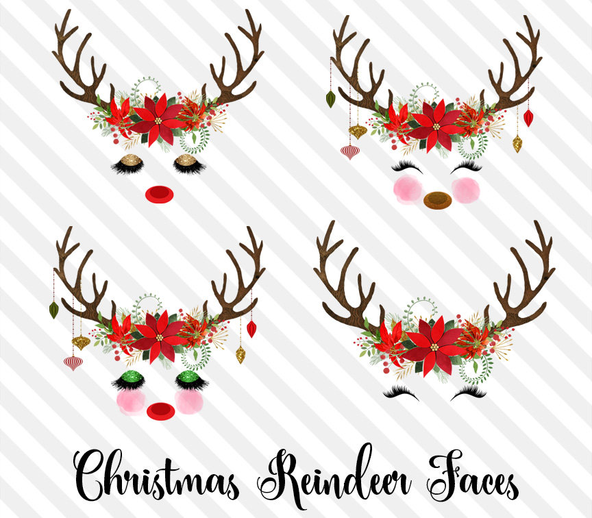 Christmas Reindeer Clipart banner freeuse stock