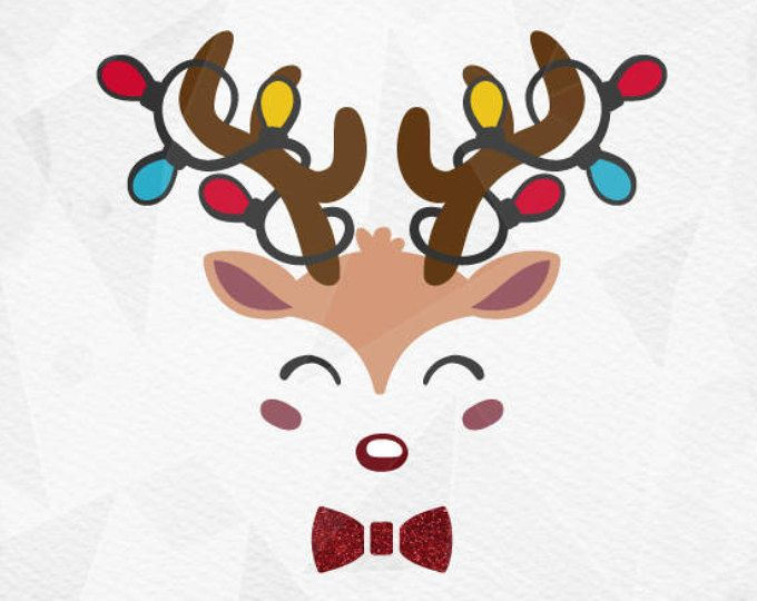 Reindeer antlers with lights clipart banner free library Pin by Laurie Newcomb on Vinyl | Reindeer face, Christmas ... banner free library
