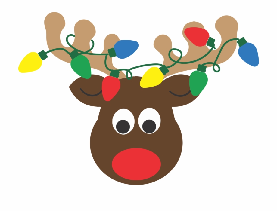 Reindeer antlers with lights clipart png royalty free download Reindeer Head With Lights - Reindeer Antlers With Christmas ... png royalty free download