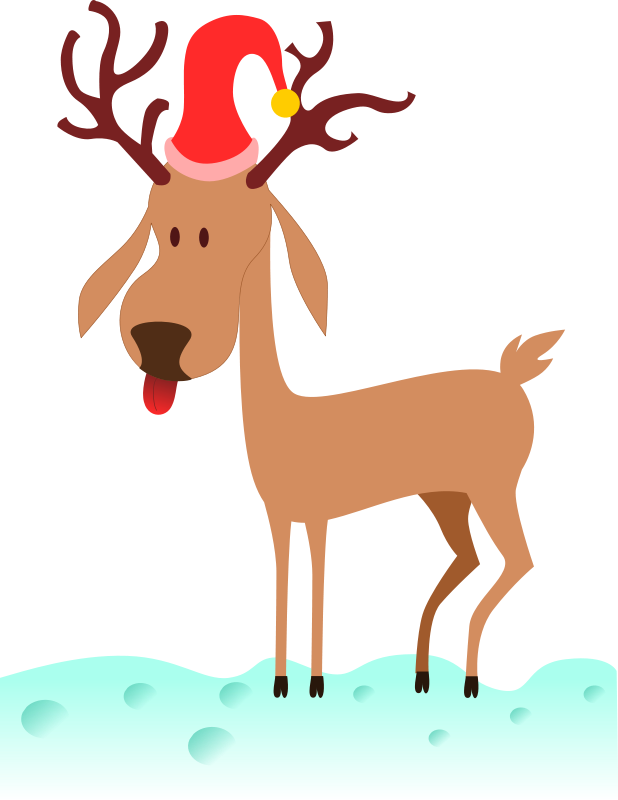 Christmas deer clipart vector download Reindeer Clipart - Free Christmas Graphics vector download
