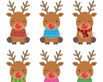 Reindeer clip art pictures clipart free library Reindeer clipart | Etsy clipart free library