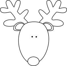 Reindeer face clipart black and white clipart stock easy reindeer face to draw - Google Search | Faces ... clipart stock
