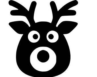 Reindeer face clipart black and white transparent stock Reindeer face clipart black and white 1 » Clipart Portal transparent stock