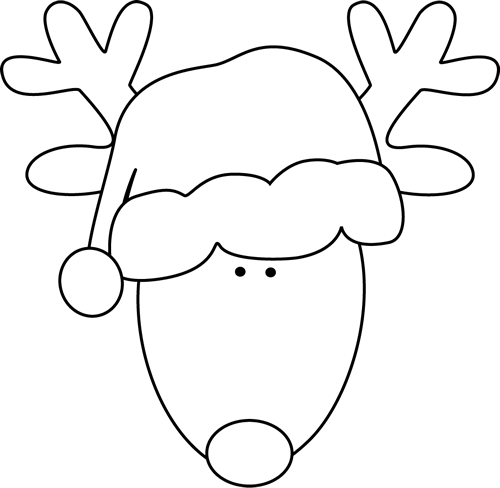 Reindeer face clipart black and white graphic free Reindeer Face Clipart Black And White graphic free