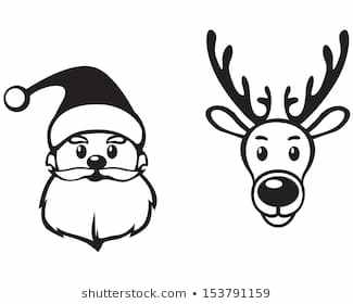 Reindeer face clipart black and white vector transparent stock Reindeer face clipart black and white 4 » Clipart Portal vector transparent stock