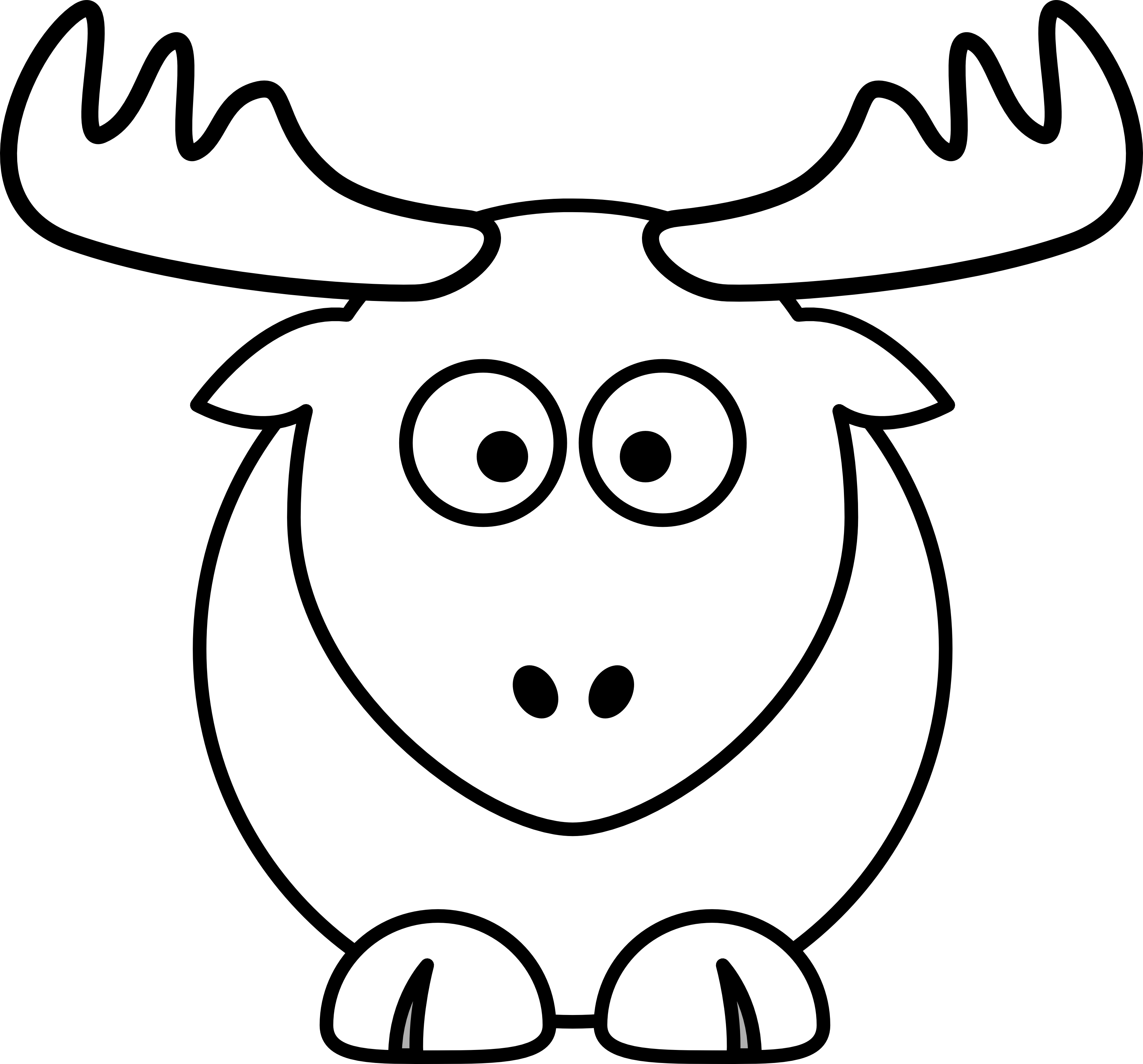 Reindeer face clipart black and white graphic free Reindeer Clipart Black And White - Clip Art Library graphic free