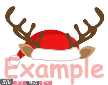 Christmas Hats Props Santa Hat deer hat clipart Santa Claus reindeer deer  482s svg download
