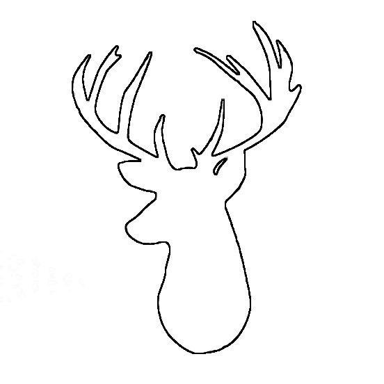 Reindeer head outline clipart svg freeuse download Deer Head Outline Clipart - Free Clipart | crafts | Reindeer ... svg freeuse download