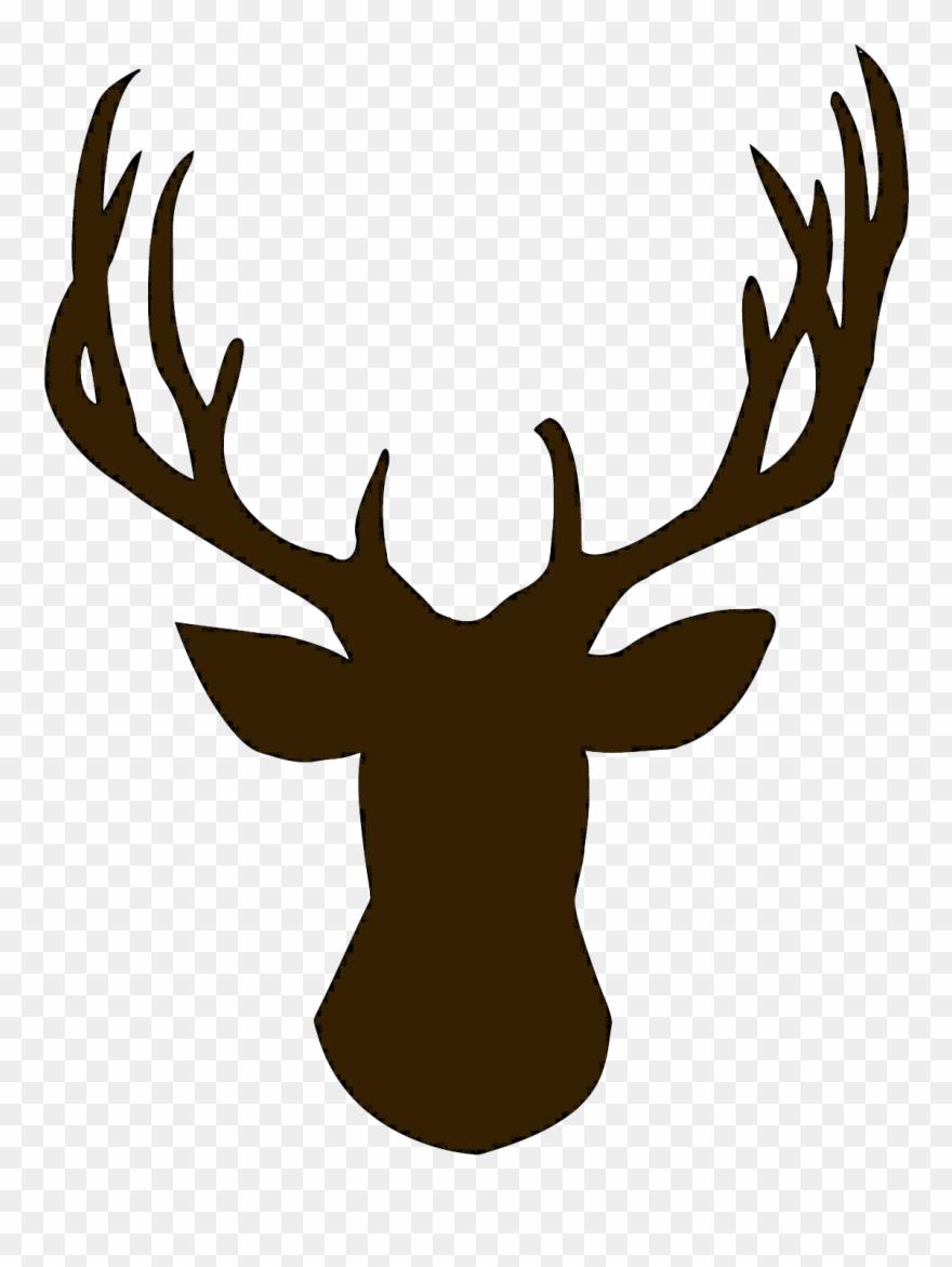 Reindeer head outline clipart vector free download Foot Clipart Reindeer - Deer Head Silhouette Png Transparent ... vector free download