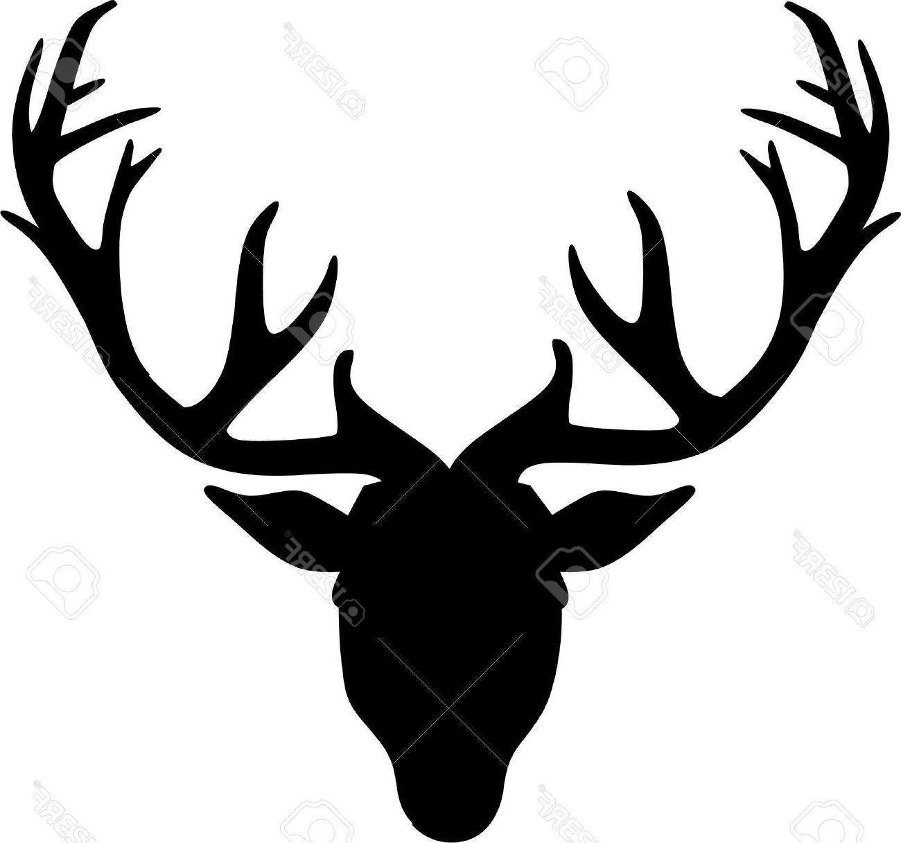 Reindeer head outline clipart black and white stock Best Deer Head Outline Clip Art Cdr » Free Vector Art ... black and white stock