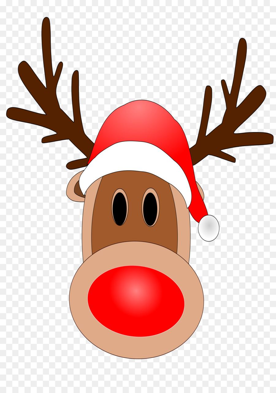 Reindeer nose clipart image black and white stock Santa Claus Cartoon png download - 1697*2400 - Free ... image black and white stock