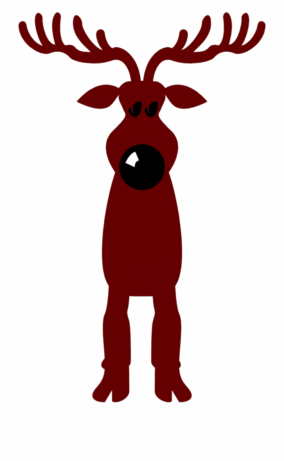 Silhouette clipart rudolph red nosed reindeer png royalty free download Deer Clipart Nose - Rudolph The Red Nosed Reindeer Free PNG ... png royalty free download
