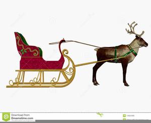 Reindeer pulling sleigh clipart clip art freeuse library Reindeer Pulling Sleigh Clipart Free   Free Images at Clker ... clip art freeuse library