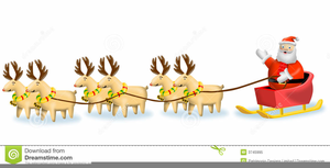 Reindeer pulling sleigh clipart picture Reindeer Pulling Sleigh Clipart Free   Free Images at Clker ... picture