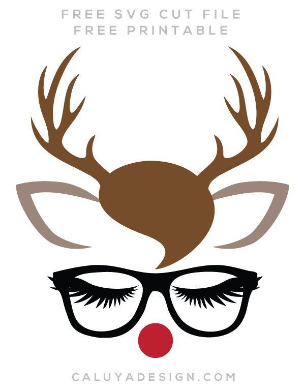 Reindeer sayings clipart free svg transparent stock Reindeer Faces Free SVG, PNG, DXF, EPS Download by C. Design ... svg transparent stock