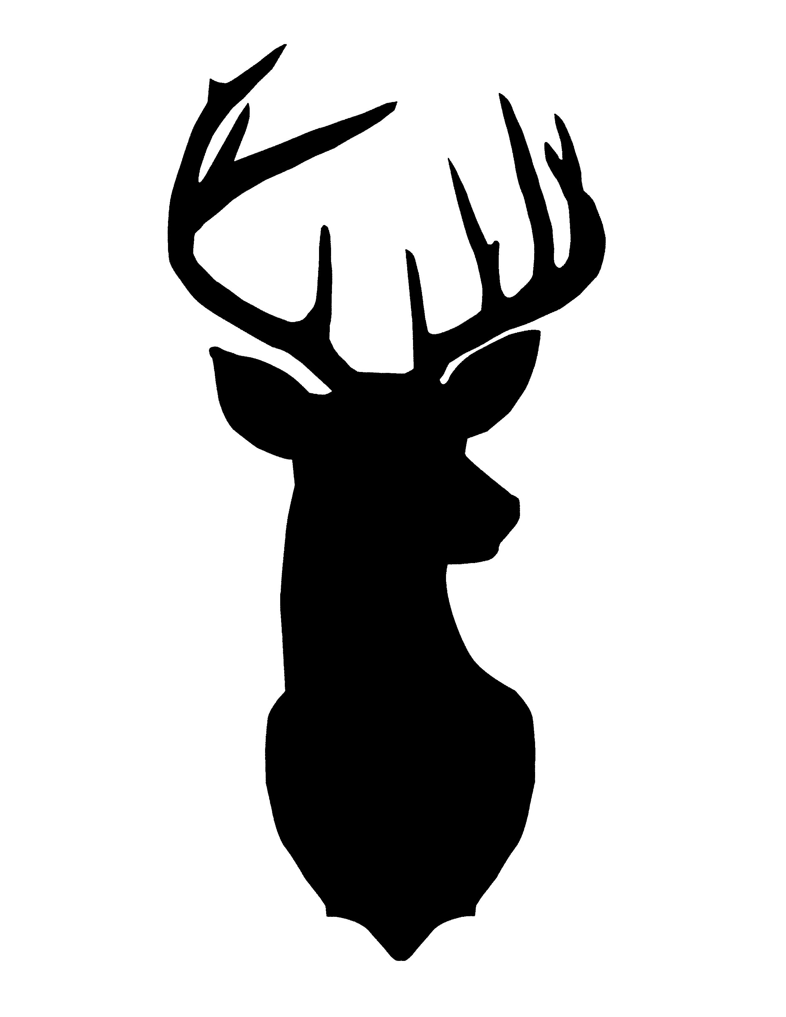 Reindeer silhouette clipart free jpg black and white Deer Clipart Free   Free download best Deer Clipart Free on ... jpg black and white
