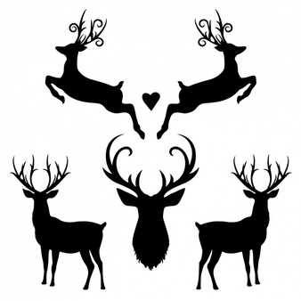 Reindeer silhouette clipart free banner royalty free Deer Vectors, Photos and PSD files   Free Download banner royalty free