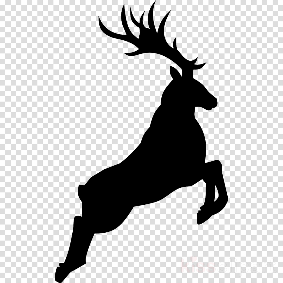 Reindeer silhouette clipart free png library Deer, Silhouette, Reindeer, transparent png image & clipart ... png library