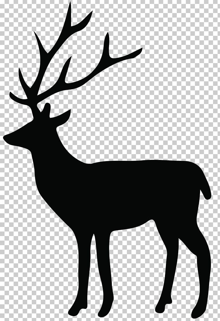 Reindeer silhouette clipart free clipart free library Reindeer Silhouette White-tailed Deer PNG, Clipart, Antler ... clipart free library