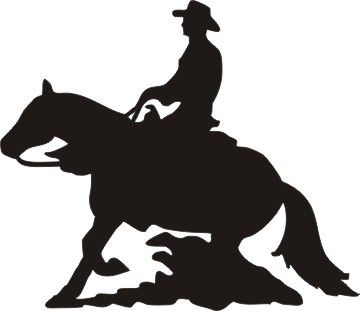 Reining horse silhouette clipart freeuse Pin by Valtira Faire on Horses   Horse silhouette, Reining ... freeuse