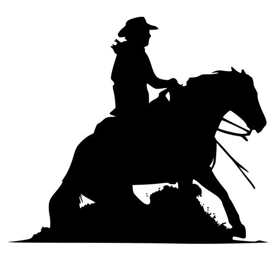 Reining horse silhouette clipart vector freeuse silhouette reining horse   Horse decal-Western Horse Wall ... vector freeuse
