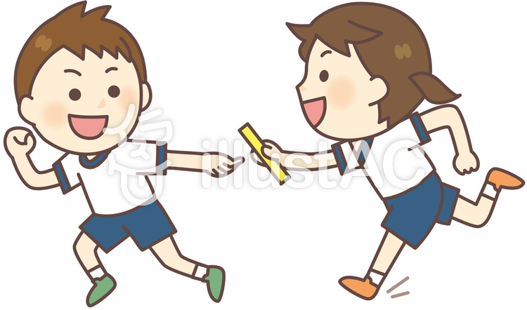 Free Cliparts : Baton Pass relay - 1037336 | illustAC vector free library