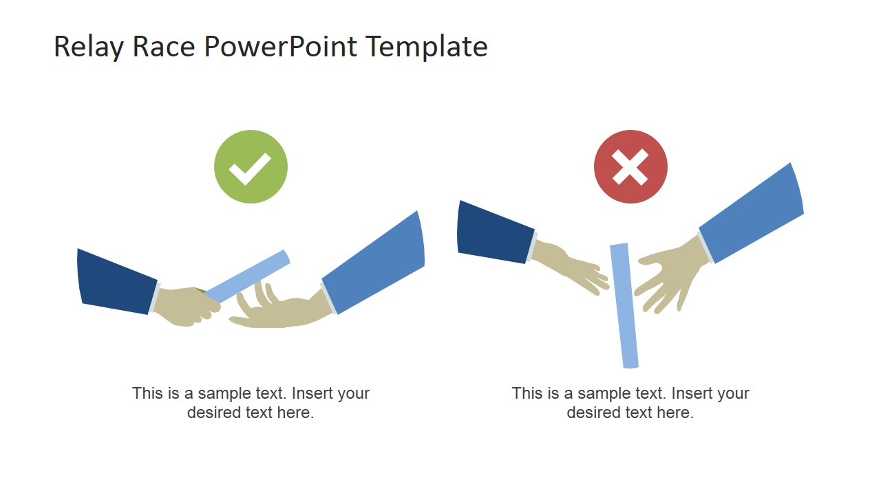 Relay Race PowerPoint Template banner royalty free stock