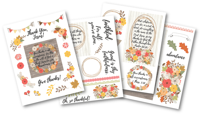 Religous thanksgiving count your blessing clipart transparent stock Free Thanksgiving Bible Journaling Printable   They Call Me Blessed transparent stock