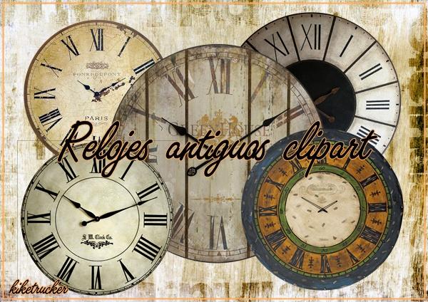 Reloj antiguo clipart