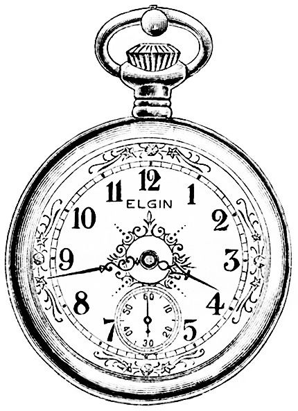 Reloj antiguo clipart free library vintage watch magazine advertisement, antique Elgin ... free library