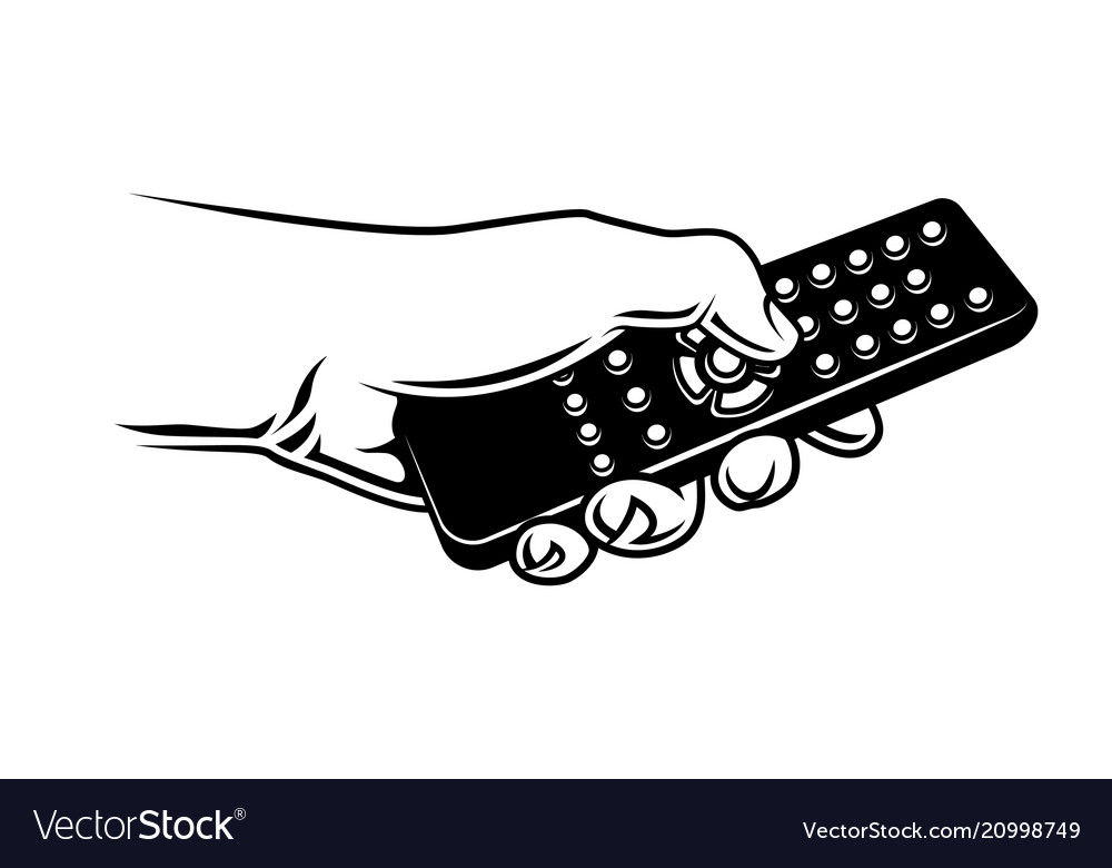 Remote control clipart black and white png royalty free Hand holding tv remote control png royalty free
