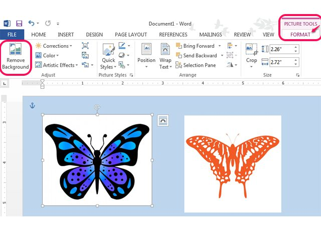 Remove white background from clipart in word png free library How To Remove A White Background On A Pict #197525 ... png free library