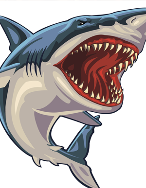 Rendered clipart clipart royalty free stock Download Free png Rendered Shark Attack Clipart - DLPNG.com clipart royalty free stock