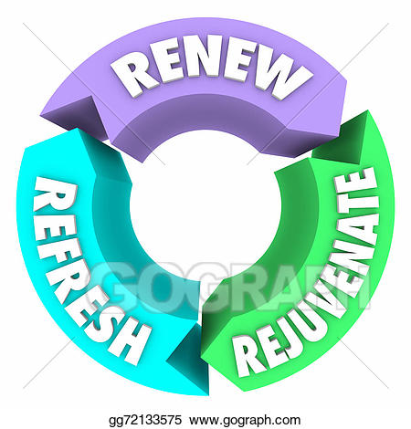Renewal Cliparts - Making-The-Web.com image royalty free stock