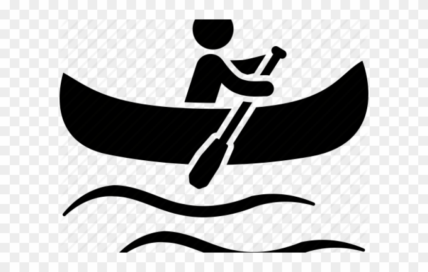 Canoe images clipart clip art black and white stock Canoe Clipart Kayak - Canoeing Icon - Png Download (#332991 ... clip art black and white stock