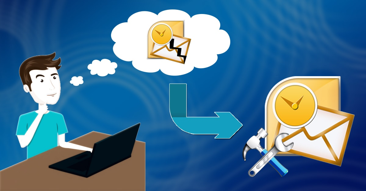 Inbox Repair Tool Fails to Repair PST File. Please Help Me! vector black and white