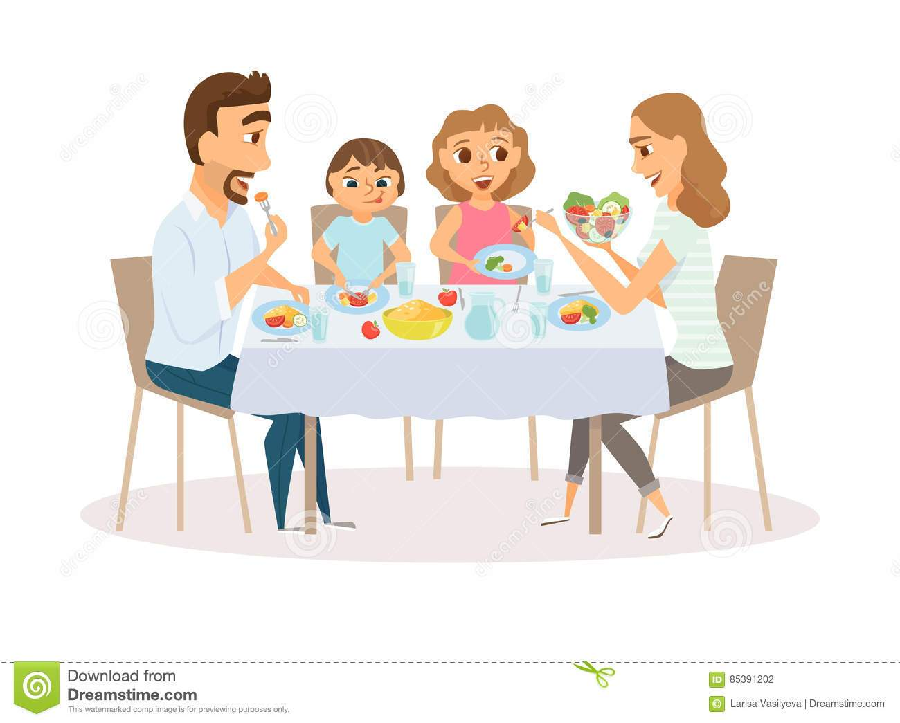 Repas en famille clipart 1 » Clipart Portal svg royalty free download