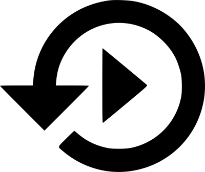 Replay PNG - DLPNG.com vector black and white download